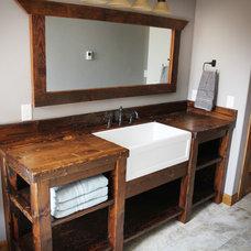 Craftsman Bathroom by Schrock Construction inc.