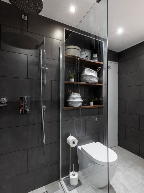 Modern Family Bathroom Ideas Part - 41: Photo Of A Large Contemporary And Modern Family Bathroom In London With  Raised-panel Cabinets