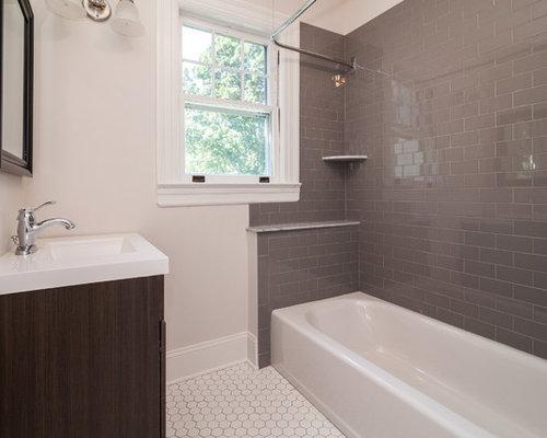 salle de bain victorienne avec un lavabo int gr photos et id es d co de salles de bain. Black Bedroom Furniture Sets. Home Design Ideas
