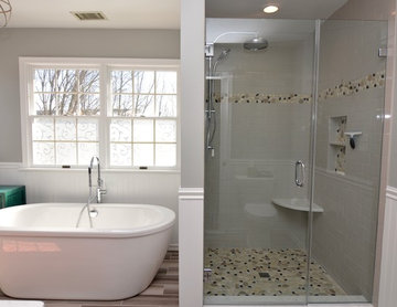 Complete Master Bathroom Remodel by Clarksville Construction