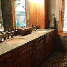 Mediterranean Vanity Tops And Side Splashes by European Stone Concepts