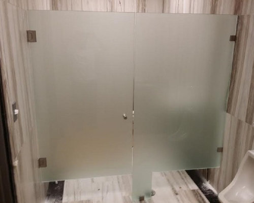 Bathroom Partitions Ri Glass Bathroom Partition | Houzz
