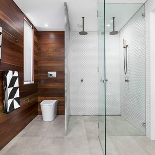 Design ideas for a large contemporary bathroom in Sydney.