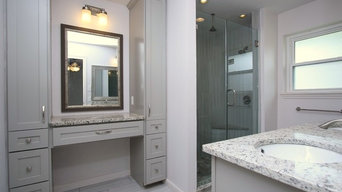 Completely new master bath in mid century home.