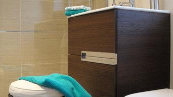 Comtemporary Small Bathroom