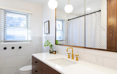 Bathroom of the Week: A Stylish Mix of Walnut and White