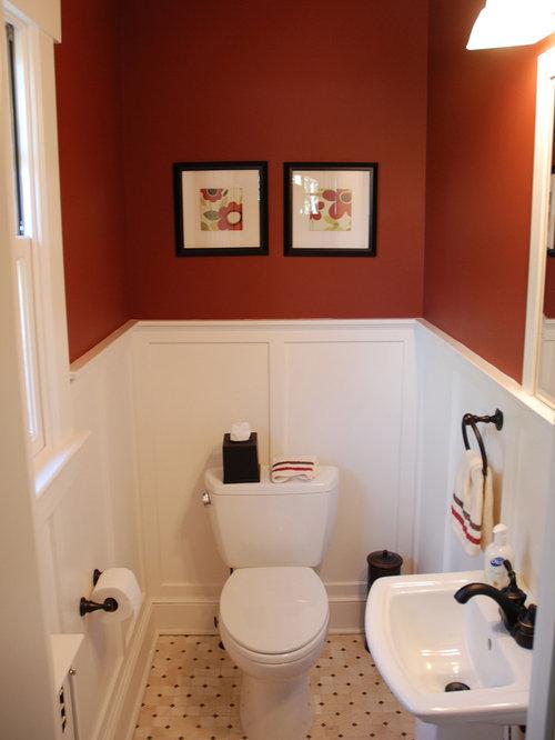 Klassische Badezimmer mit roter Wandfarbe Ideen, Design & Bilder | Houzz