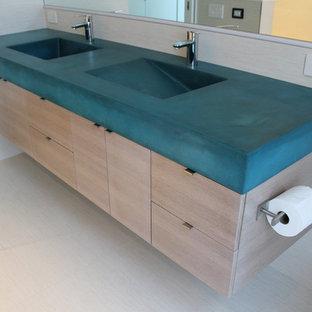 Concrete Double Sink Vanity