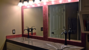 Concrete Gravity Sink with ring drain and concrete mirror frame