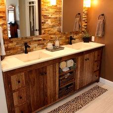 Rustic Bathroom by Concrete Craftsman