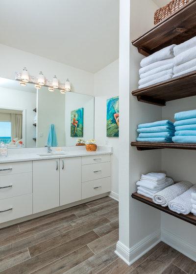 Beach Style Bathroom by Omega Construction and Design, Inc.