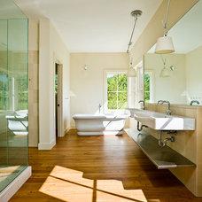 Farmhouse Bathroom by Demetriades + Walker