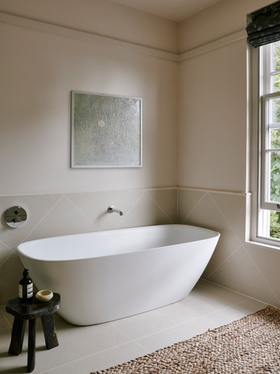 Transitional Bathroom by Garry Meakins Studio