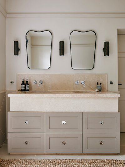 Transitional Bathroom by Garry Meakins Studio
