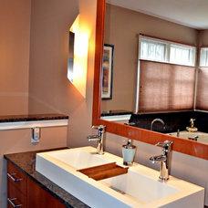 Contemporary Bathroom by Patricia L. Caulfield, LLC