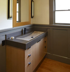 contemporary bathroom by Mueller Nicholls Cabinets and Construction