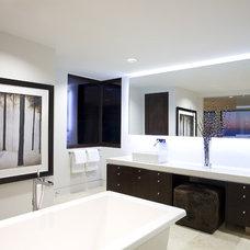 Contemporary Bathroom by abodwell interior design- Brittney Fischbeck