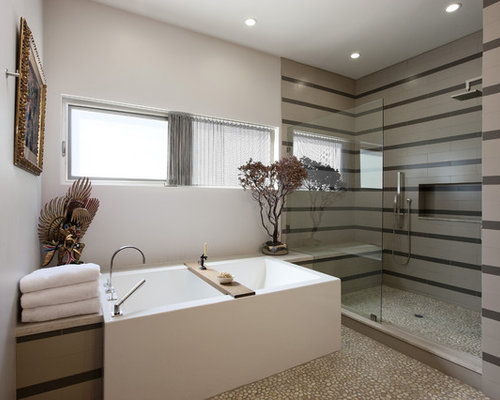 Bathroom Tiles Loose loose pebble floor treatment | houzz