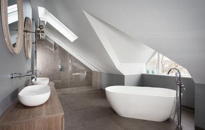 10 salles de bains sous pente réussies