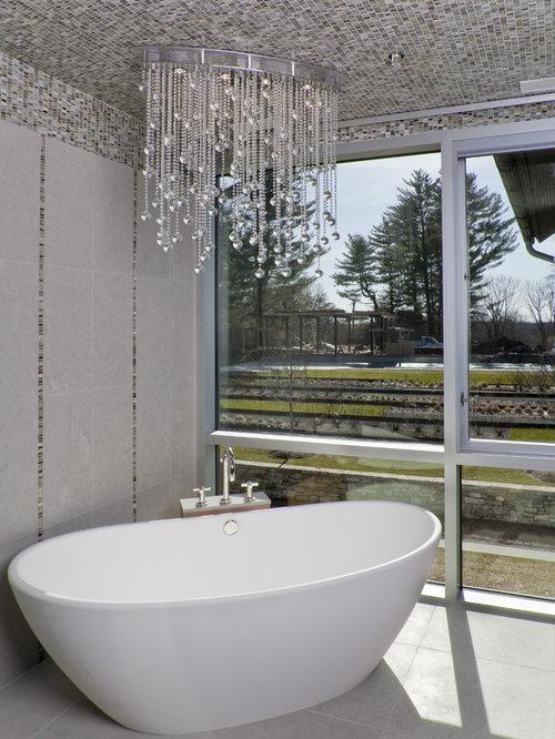 Chandelier Tub Home Design Ideas Remodel