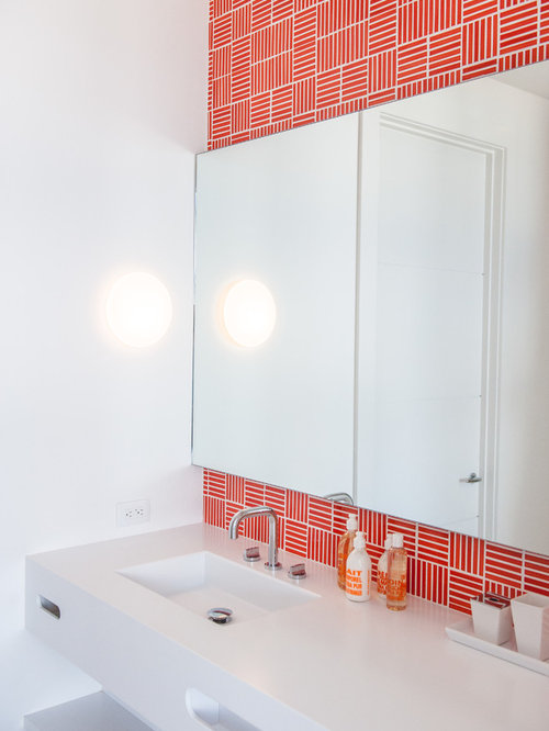Bathroom Tiles Red bathroom design ideas, remodels & photos with red tile
