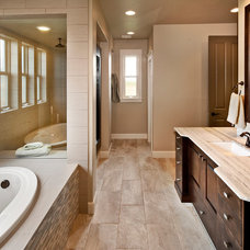 Contemporary Bathroom by Brighton Homes Idaho Inc.