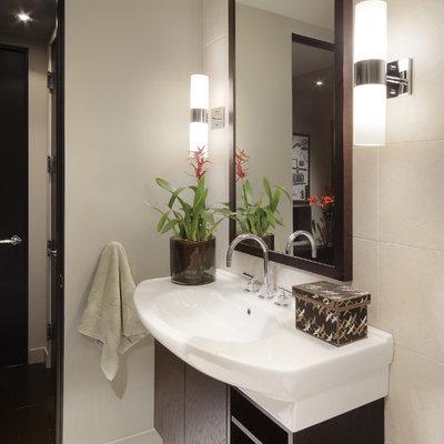Bathroom - contemporary bathroom idea in Phoenix with an integrated sink