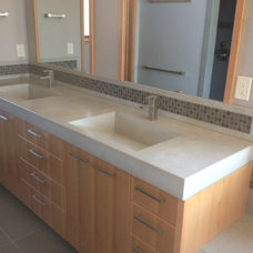 contemporary bathroom sinks by Cement Elegance