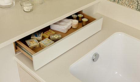Optimiser une petite salle de bains grâce à des tiroirs malins