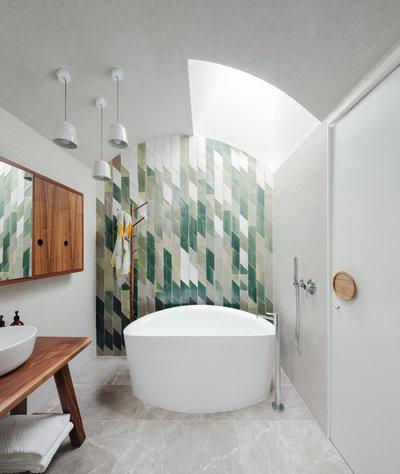 Contemporain Salle de Bain Contemporary Bathroom