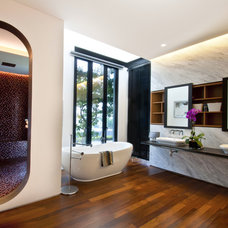 Contemporary Bathroom by DESIGN INTERVENTION