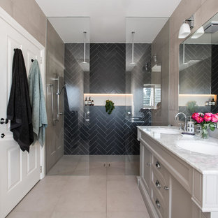 Contemporary Bathroom featuring Davenport 60-inch