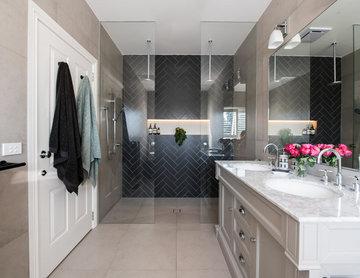 Contemporary Bathroom featuring Davenport 60-inch