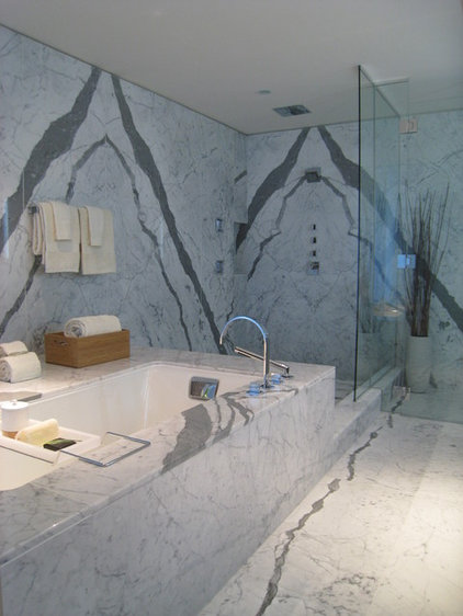 Contemporary Bathroom by Flüff Designs & Decor