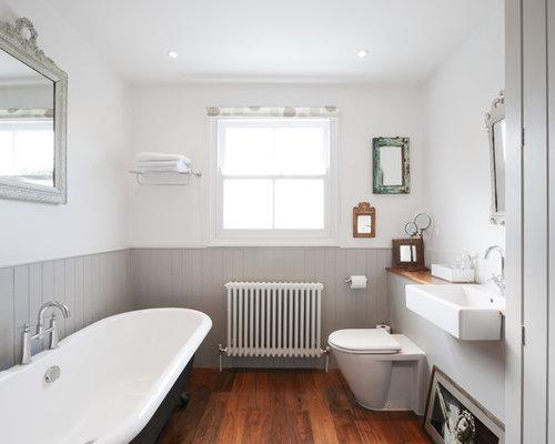 Gray And White Bathroom | Houzz