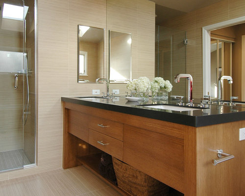 Light Wood Vanities For Bathrooms vanity black top | houzz