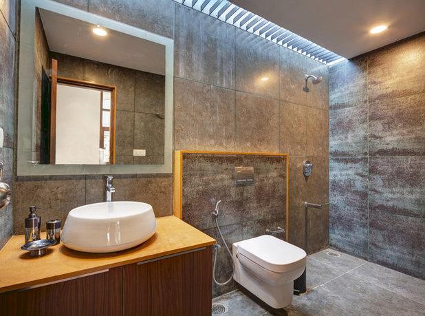 Contemporary Badrum Contemporary Bathroom