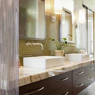 green bathroom tile   houzz