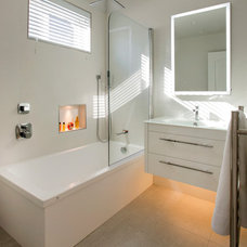 Contemporary Bathroom by Beatrice M. Fulford-Jones BA, SBID, IIDA