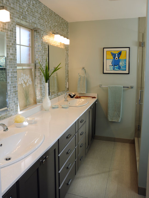Galley bathroom houzz for Galley style bathroom