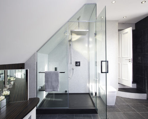 Small Bathroom Designs Slanted Ceiling slanted ceiling shower | houzz