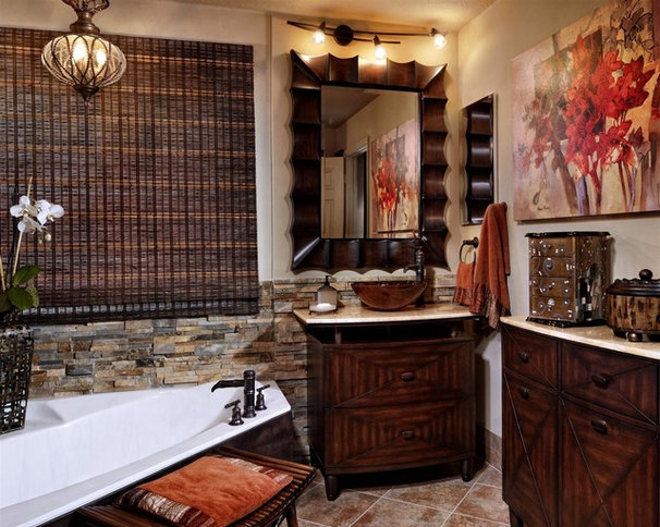 Contemporary Bathroom by Interiors by Myriam, LLC