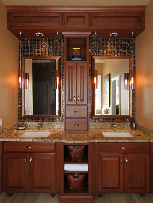 Bon Inspiration For A Contemporary Mosaic Tile Bathroom Remodel In Other With  An Undermount Sink