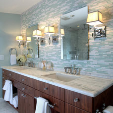 contemporary bathroom by Justine Sterling Design
