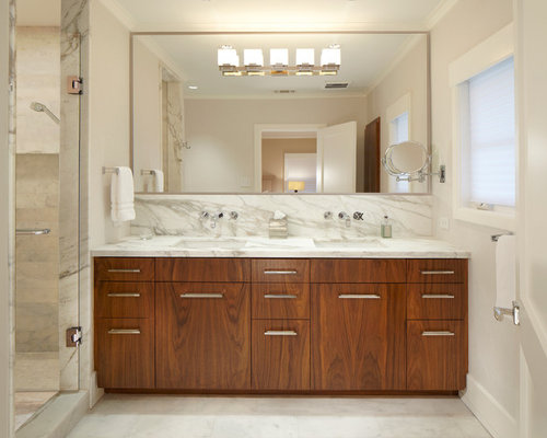 Frameless Vanity Mirror Home Design Ideas Pictures Remodel And Decor