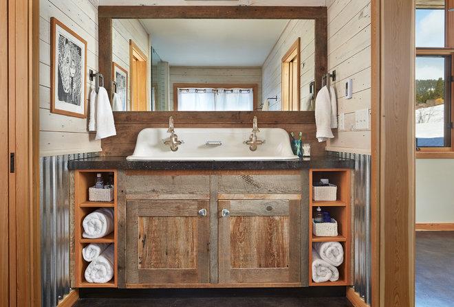 Rustic Bathroom Contemporary Bathroom