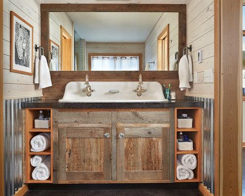 Badezimmer Waschtisch Rustikal ~ Raum- und Möbeldesign-Inspiration   {Doppelwaschtisch rustikal 78}