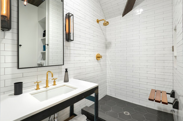 Houzz tour a stunning church conversion in chicago for Church bathroom designs
