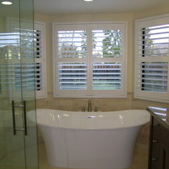 contemporary bathroom by May Construction, Inc.