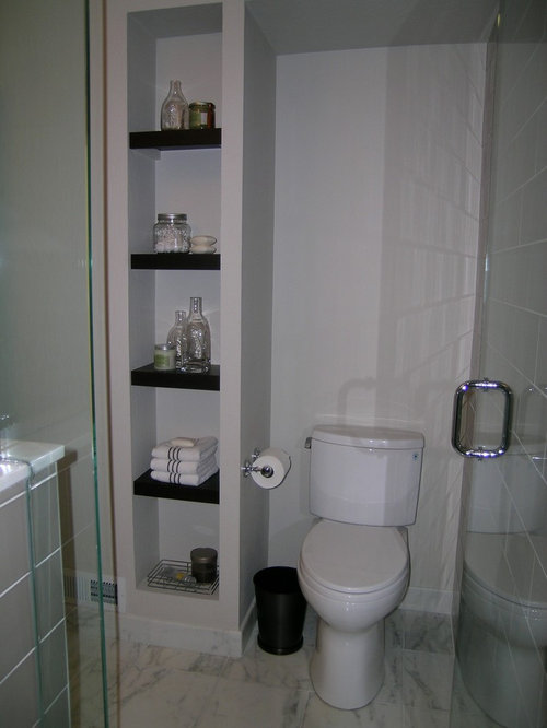 Open bathroom shelving ideas pictures remodel and decor - Bath wraps bathroom remodeling reviews ...